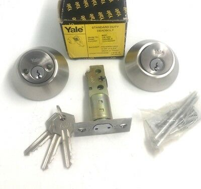 Yale 8021 Deadbolt Double Cylinder Satin Stainless Steel Us32D