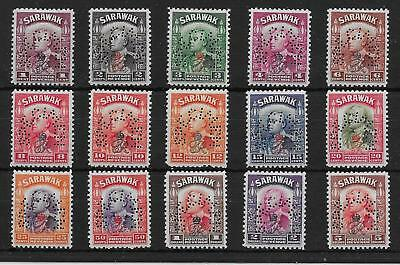 SARAWAK SG150s/64s 1947 CROWN COLONY SET PERF SPECIMEN MTD MINT