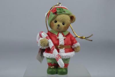 Cherished Teddies 'You Are My Candy Cane Cutie' 2nd In Elf Ornament #4053473 NIB