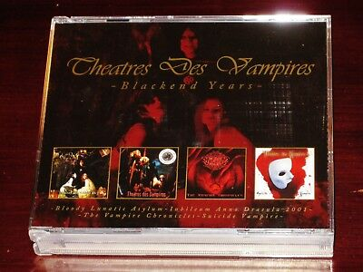 Theatres Des Vampires: Blackened Years - Bloody, Anno, Suicide 4 CD Box Set NEW