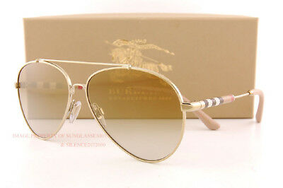 Brand New Burberry Sunglasses BE 3092Q 1145/6E Gold/Brown Mirror Gold Men Women