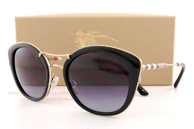 Brand New Burberry Sunglasses BE 4251Q 3001/8G  Black/Gradient Gray For  Women