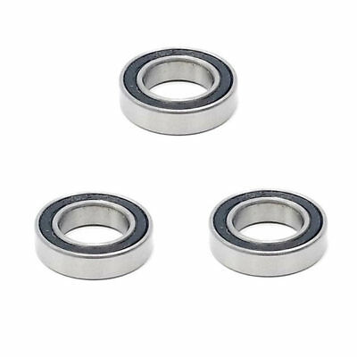 3x 6801 2RS Rubber Sealed Deep Groove Ball Bearings - 12x21x5 mm