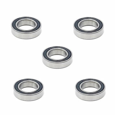 5x 6801 2RS Rubber Sealed Deep Groove Ball Bearings - 12x21x5 mm