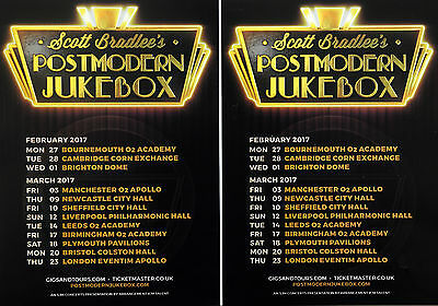 3 Scott Bradlee Postmodern Jukebox 2017 Tour Flyers  London Etc