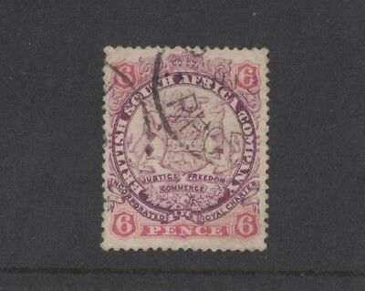 1896/7 Rhodesia Arms SG 33 fine used
