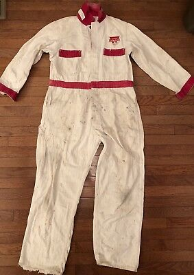 Vintage 1940s CONOCO Oil Refinery Worker Coverall Advertising Workwear Sz 42