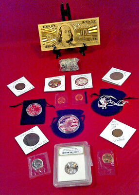 ~Make Offer~ Slabbed  Coin Lot>Proof Coins In Cello/Gold $100/.999 Silver+More