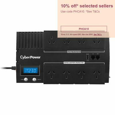 CyberPower BRICs LCD UPS 8 Outlets 850VA 510W Power Supply 8 Way Power Board