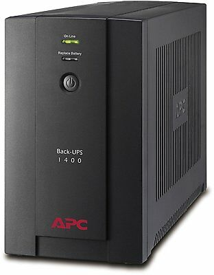 APC BX1400 1400VA UPS 6 Outlet Surge Protection AVR Uninterruptible Power Supply
