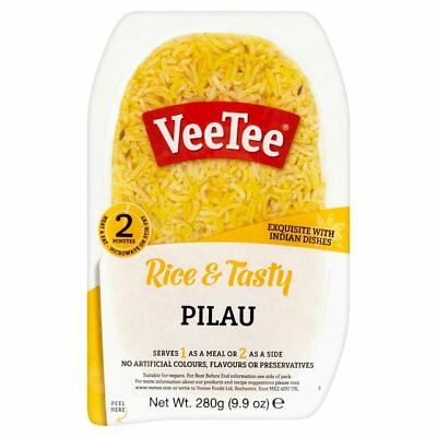 Veetee Dine In Pilau Rice - 280g Packs Various Quantities - Perfect with Indian
