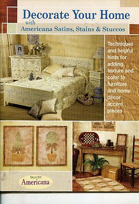 PAINTING BOOK - DECORATE YOUR HOME with Americana Satins, Stains & Stuccos