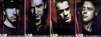 U2: Rattle and Hum (1988) set of 4 original movie posters single-sided rolled