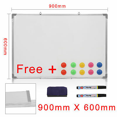 Large Magnetic Whiteboard Dry Wipe Drawing Board&eraser Office Notice 900X600Mm