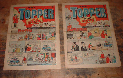 1975 THE TOPPER & BUZZ COMIC x 2 #s 1166 & 1183