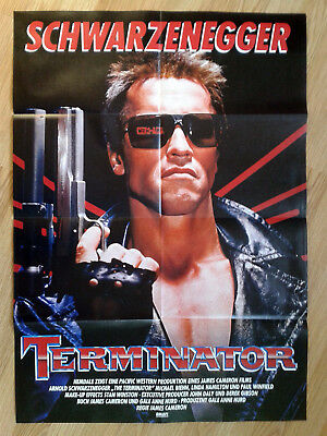 THE TERMINATOR German 1-sheet poster ARNOLD SCHWARZENEGGER 1984 JAMES CAMERON