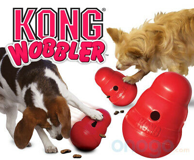 Kong Wobbler Dog Treat Dispenser Chew Toy - 2 Sizes - Anti Gulp Slow Feed Bowl