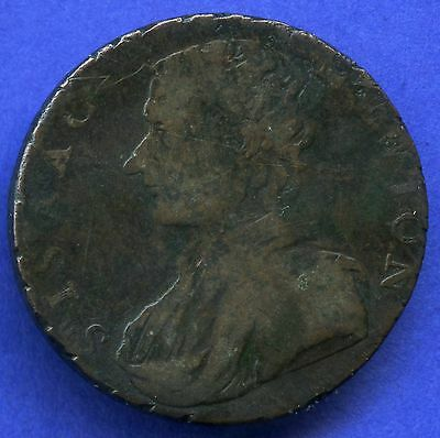 "1793 Middlesex Half Penny Token ""Sir Isaac Newton"""