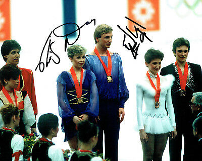 Jayne TORVILL & Christopher DEAN SIGNED Autograph 10x8 Photo 2 AFTAL COA Skaters