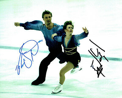Jayne TORVILL & Christopher DEAN SIGNED Autograph 10x8 Photo 3 AFTAL COA Skaters