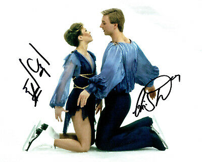 Jayne TORVILL & Christopher DEAN SIGNED Autograph 10x8 Photo 4 AFTAL COA Skaters
