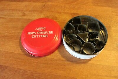 Vintage Tala Aspic & Hors D'Oeuvre Small Cutters in Tin – Kitchenalia! –