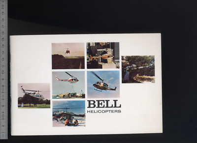 (192) Brochure hélicoptère Aircraft Helicopter Bell 1973