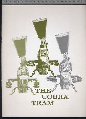 (192) Brochure hélicoptère Aircraft Helicopter Bell The cobra team