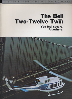 (192bis) Brochure hélicoptère Aircraft Helicopter Bell Two-Twelve Twin