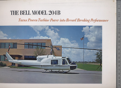 (192) Brochure hélicoptère Aircraft Helicopter Bell Model 204B