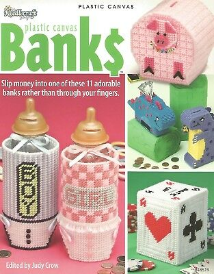 Banks Plastic Canvas Patterns Needlecraft Shop Kid Piggy Car Popcorn Baby Bottle