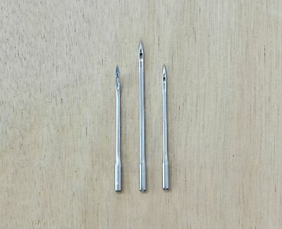 3 Pack #6 Curved #8 #5 Sewing Awl needles Leather craft needle