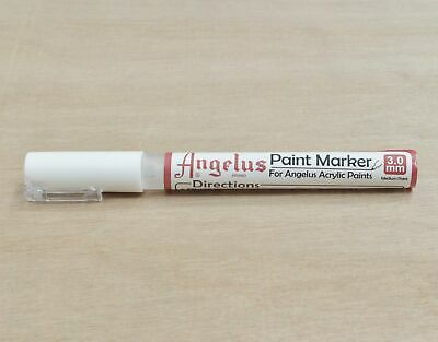 Angelus Paint Marker Pen 3mm Broad Tip Acrylic Leather Vinyl Empty Fillable