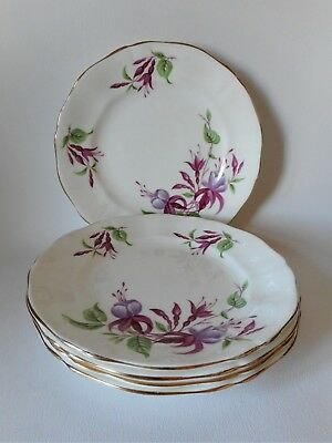 FIVE ADDERLEY FUCHSIA 160mm PLATES GOOD CONDITION