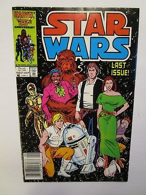 '86 Star Wars # 107 In Fine + Condition, The Last Issue