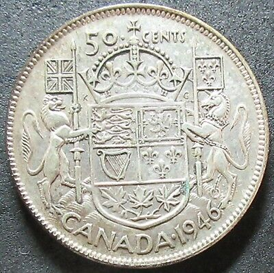 1946 Canada Silver Fifty Cent Coin