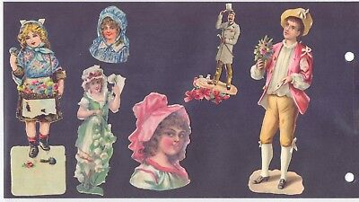 Nice Lot of Original Victorian Die Cut,Scraps Boys & Girls          (SC 5)