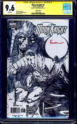 Moon Knight #1 SKETCH VARIANT CGC SS 9.6 signed David Finch NM+