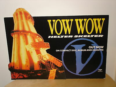 Vow Wow Helter Skelter, display stand board, Japanese Rock BowWow Kyoji Yamamoto