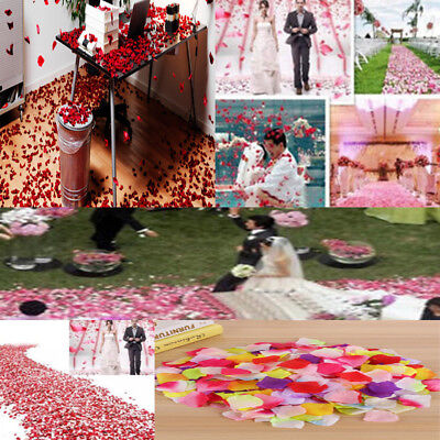 1000Pcs Fake Silk Rose Flower Petals Wedding Party Table Confetti Home Decor S&K