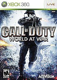 Call of Duty: World at War (Microsoft Xbox 360, 2008) Shooting Video Game