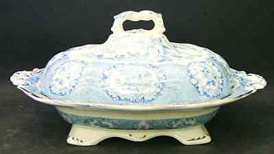 Ridgway ORIENTAL BLUE (GOLD TRIM) Oval Covered Vegetable Bowl 8192824