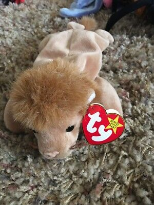 TY Beanie Baby Babies Roary The Lion Jungle Cat 1996