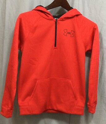 Under Armour Red UA Storm 1/4 Zip ColdGear Boys' Loose Hoodie Youth Medium