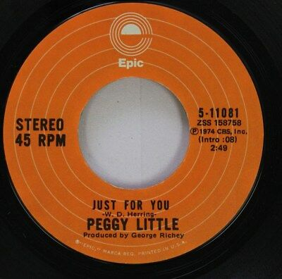 Pop 45 Peggy Little - Just For You / One More Chance On Epic