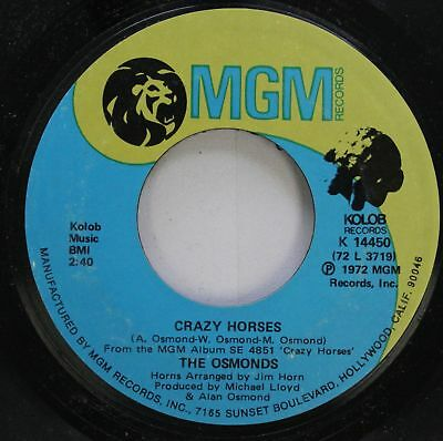 Pop 45 The Osmonds - Crazy Horses / That'S My Girl On Mgm Records