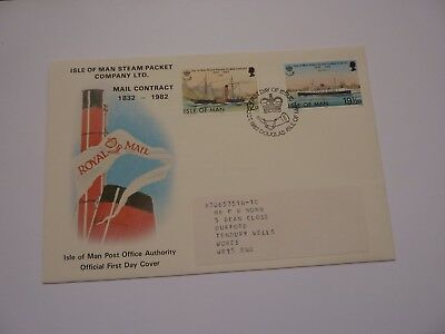 IOM Steam Packet Company 1982 FDC