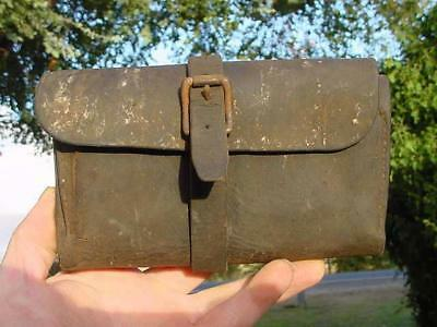 Vintage Leather Shearer's Narrow Comb Holder Kit Bag-8 Shearing Comb Pouch Roll!