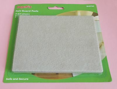 Laminate Wood Floor Furniture Felt Guard Pads Protector Pack of 2 New