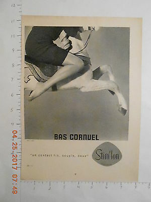 1960 French pantyhose stockings hosiery AD carousel horse sexy long legs model